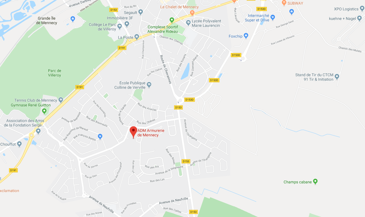 Carte Armurerie de Mennecy Google Map 1216px
