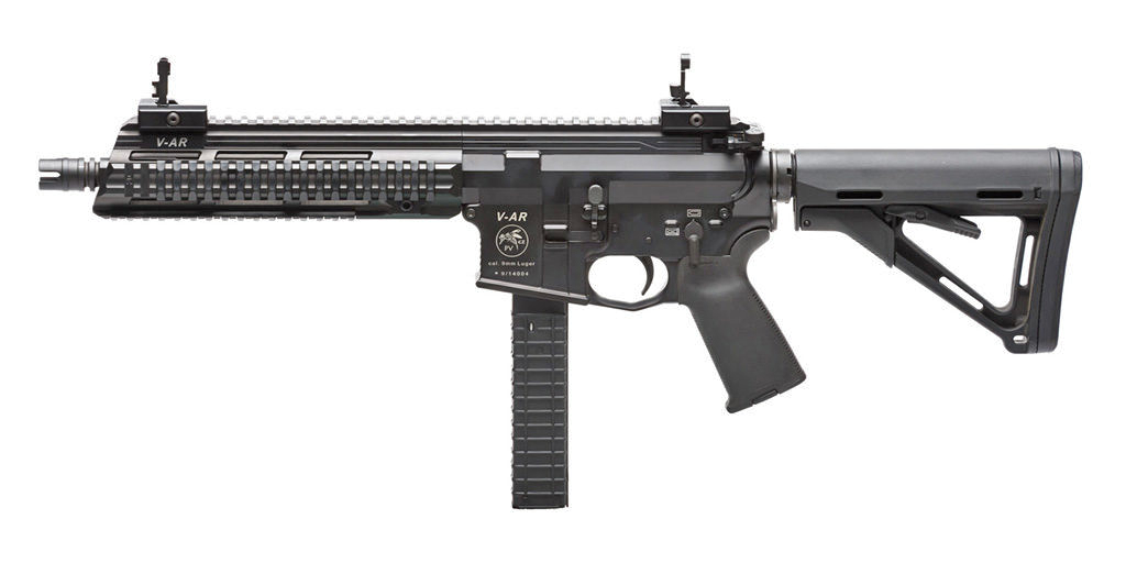 Carabine V-AR - calibre 9x19 - canon acier resized