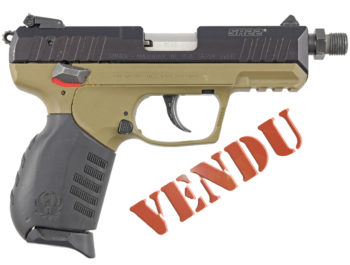 Pistolet Ruger SR22 calibre 22 LR en pack réducteur de son HP22